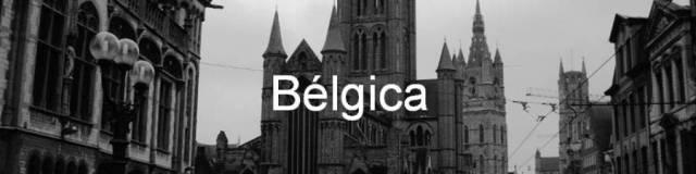 Belgica. Iglesia de San Nicolás (Sint-Niklaaskerk), el Campanario (Belfort) y la Catedral de San Bavón (Sint-Baafskathedraal) Gante,