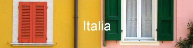 Italia. casas de colores en Gargnano