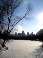 El Lago, congelado en invierno