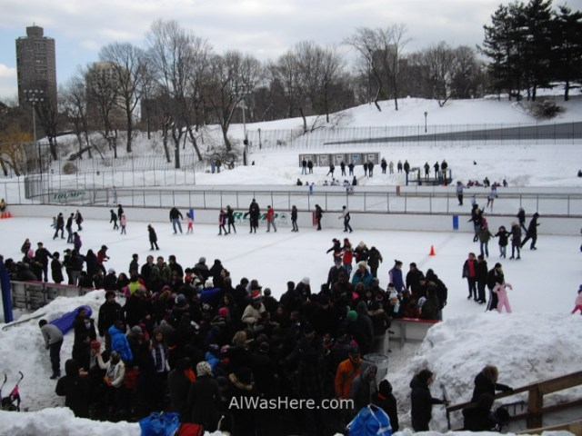 NUEVA YORK CENTRAL PARK 40, Lasker Rink, ice skate, patinaje sobre hielo New York City