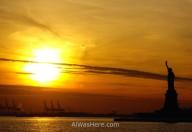 Vista de la Estatua de la Libertad desde el ferry a Staten Island