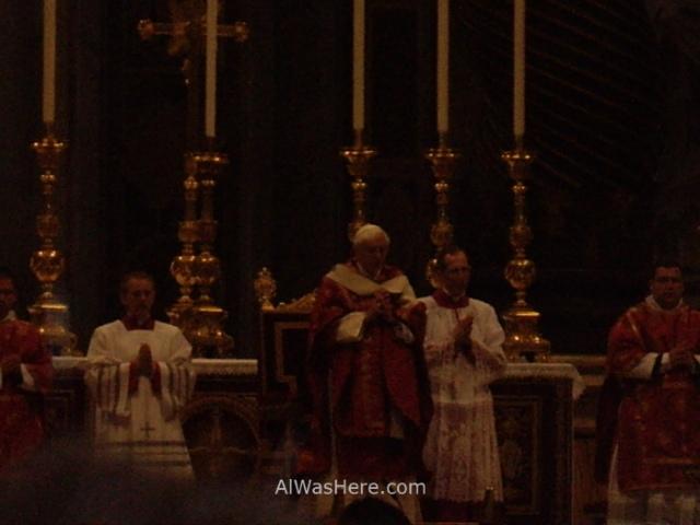 ST PETER'S BASILICA, VATICAN CITY. SAN PEDRO DEL VATICANO 8 Papa Pope Benedicto XVI