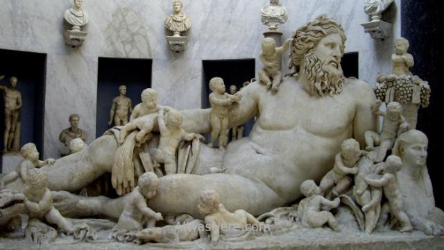 VATICANO MUSEOS 3. Museum Escultura alegoria rio Nilo Nile River allegory sculpture