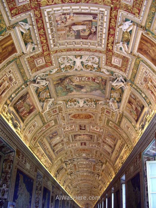 VATICANO MUSEOS 4. Museum galerias cartograficas techo mapas italia ceiling cartographic gallery Italian maps