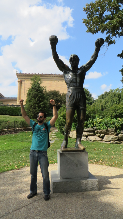 2014 Estatua de Rocky en Filadelfia