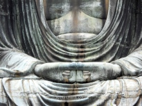 Detalle de las manos, Gran Buda de Kamakura