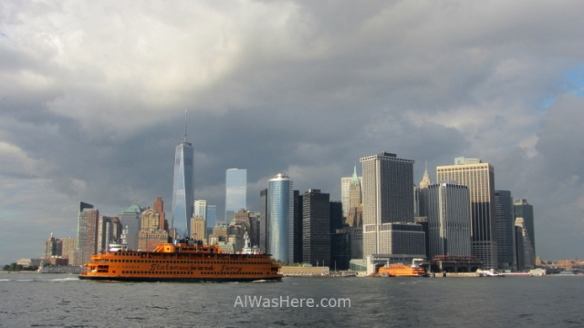 New York Nueva Downtown desde Governors Island