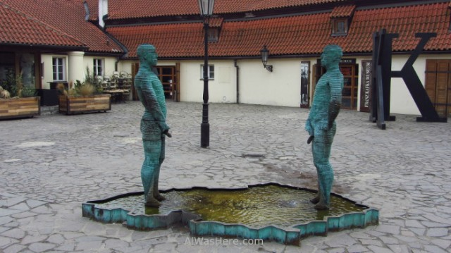 Estatua en el Museo Kafka