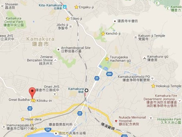 Mapa Kamakura