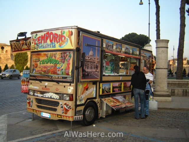 Camioneta comida Roma