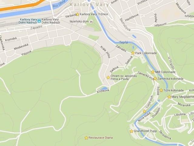 Mapa Karlovy Vary