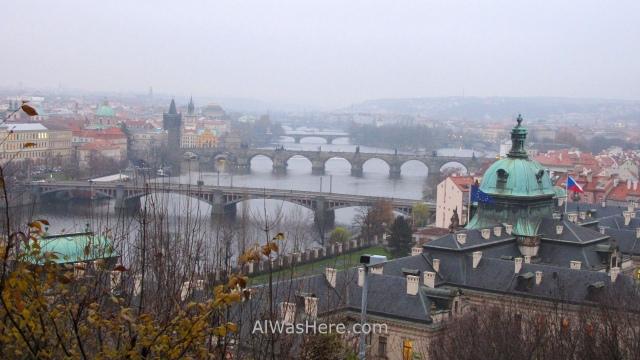 Praga vista desde jardines de Letna, view gardens Prague