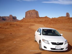 Monument Valley coche