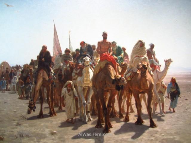Peregrinos yendo a La Meca
