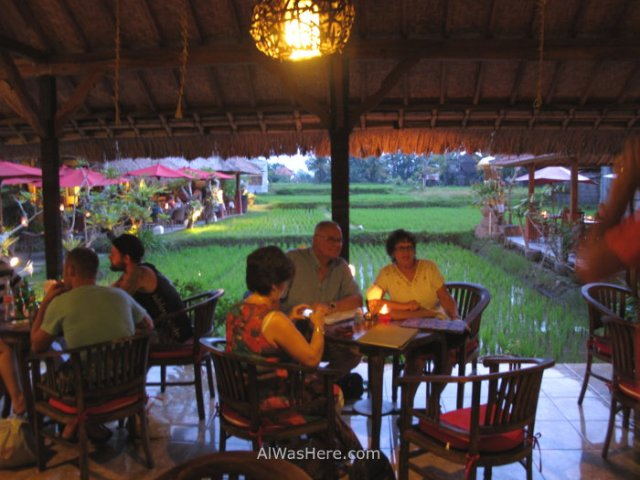 Restaurante arrozal Ubud