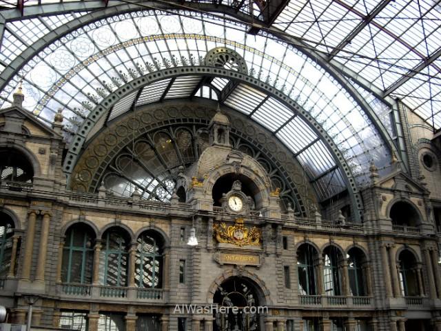 estacion-de-tren-de-amberes-belgica-antwerpen-train-station-belgium