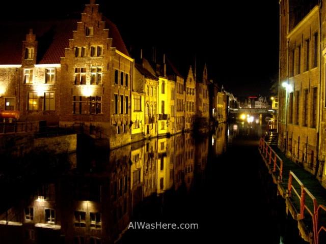 Canal junto al Patershol, Gante Belgica. Ghent Belgium