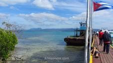 El ferry en Cayo Levisa