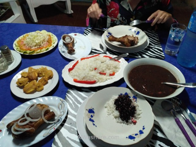 3. Comida tipica cubana Viñales, typical meal casa particular