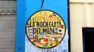 Cartel de La Bodeguita del Medio, en La Habana Vieja, Cuba