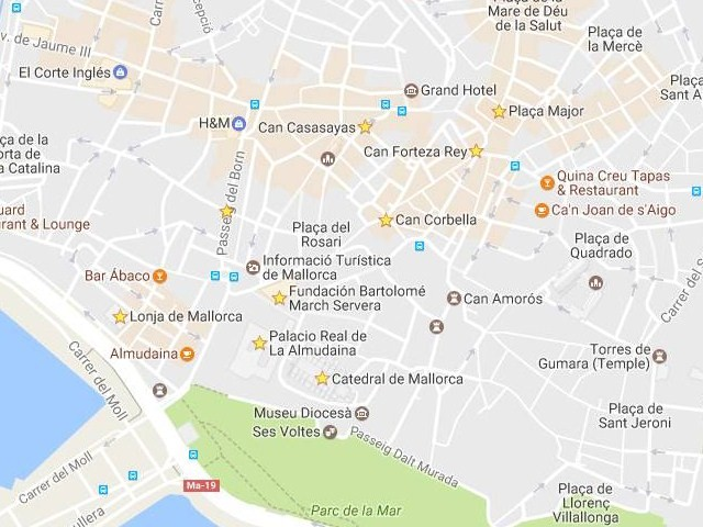 Mapa centro Palma