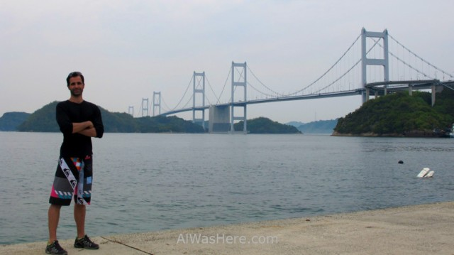 Shimanami Kaido 11. Alwashere.com con el Puente Kurushima Kaikyo, Japon. Bridge, Japan