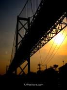 Cruzando el primer puente de vuelta