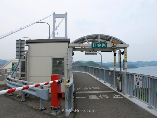 Shimanami Kaido 3. Peaje en el puente Kurushima - Kiakyo Japon, toll bridge japan