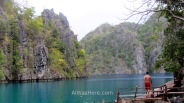 En Kayangan Lake, Isla de Corón, Palawan, Filipinas