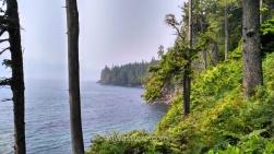 Acantilado en Juan de Fuca Marine Trail, Isla de Vancouver, Canadá