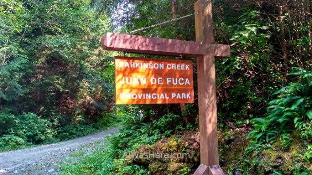 JUAN DE FUCA 35. Parkinson Creek Marine Trail, Isla de Vancouver, Columbia Britanica, Canada. British, Island.