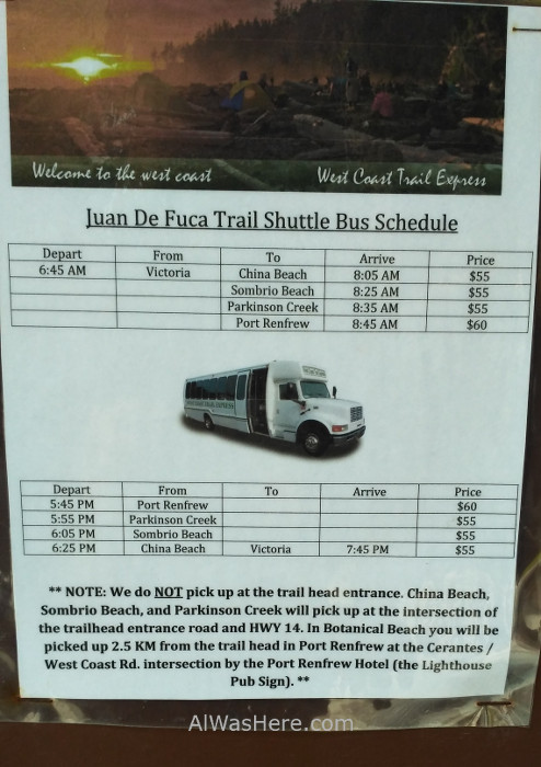 JUAN DE FUCA 8. Bus Juan de Fuca Marine Trail, Isla de Vancouver, Columbia Britanica, Canada. Island, British