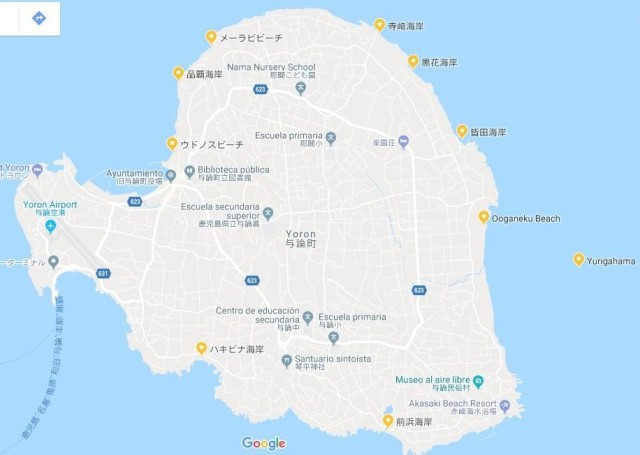 Mapa Yoron