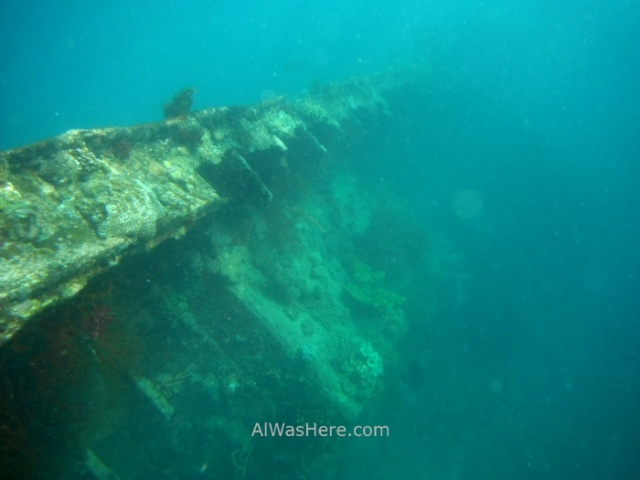 Coron pecios 4. Lusong Gunboat Morazan Maru. Isla de Coron, Palawan, filipinas, buceo. Diving shipwrecks  Philippines.JPG