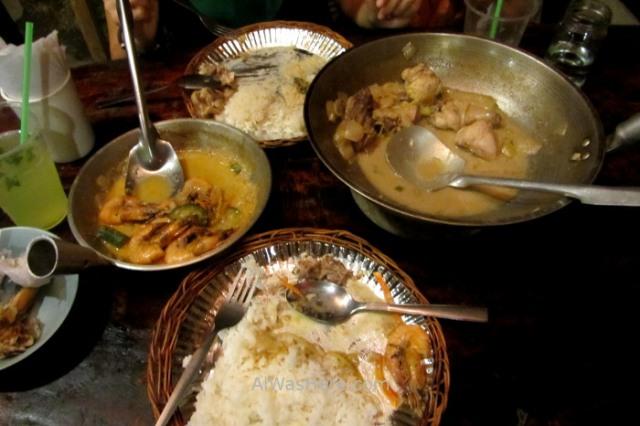 Coron town 5. comida filipina tradicional Pueblo Palawan, Filipinas. Traditional Philippino meal lunch food Philippines