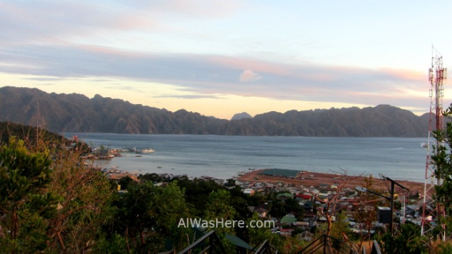 Coron town 6. Vista desde Monte Tapyas Pueblo Palawan, Filipinas. view Mount Philippines