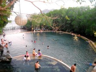 Maquinit hot spring, con sus diferentes piscinas