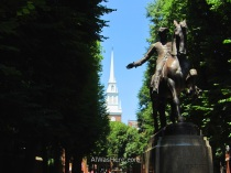 Estatua de Paul Revere en el North End, Boston