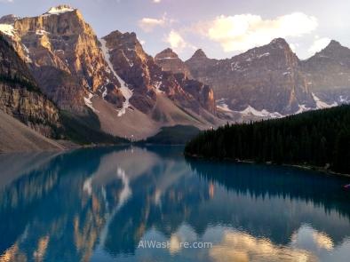 Lago Moraine, Parque Nacional Banff, Montañas Rocosas, Alberta, Canadá