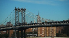 Nueva York running 13. Manhattan Bridge and Empire State Building. New York City