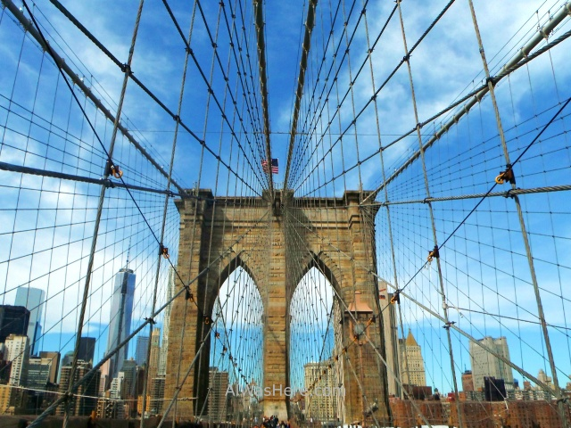 Nueva York running 15. Puente Brooklyn Bridge, New York City