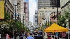 La 8ª Avenida del centro de Calgary