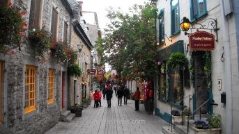 Calle del casco histórico de Ciudad de Quebec