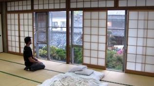 En mi habitación tradicional japonesa