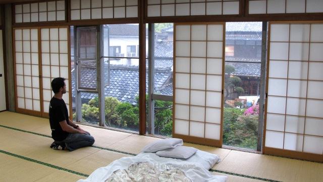 Miyazaki 3. Youth Hostel HI habitación tradicional ryokan Kyushu Japon. tradicional room Japan