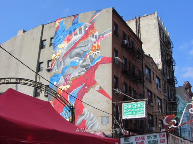 NUEVA YORK Chinatown 5. Grafiti en Little Italy, Graffiti New