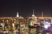 Vista nocturna de Manhattan desde el Top of the Rock