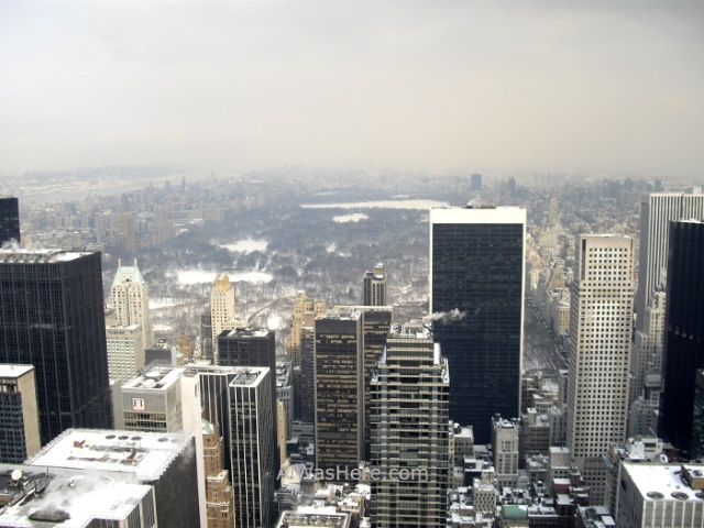 Rockefeller Center 1. Vista de Central park desde el top of the rock. view invierno winter Nueva York New
