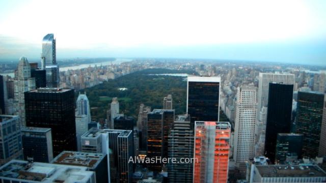 Rockefeller Center 2. Vista de Central park desde el top of the rock. view otoño autumn Nueva York New