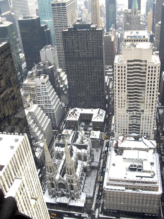 Rockefeller Center 3. Vista de catedral san Patricio desde el top of the rock. view in St Patrick's cathedral Nueva York New